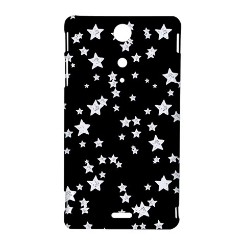 Black And White Starry Pattern Sony Xperia TX