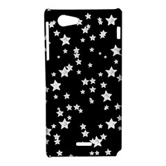 Black And White Starry Pattern Sony Xperia J