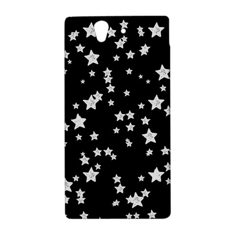 Black And White Starry Pattern Sony Xperia Z