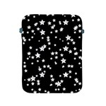 Black And White Starry Pattern Apple iPad 2/3/4 Protective Soft Cases Front