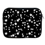Black And White Starry Pattern Apple iPad 2/3/4 Zipper Cases Front