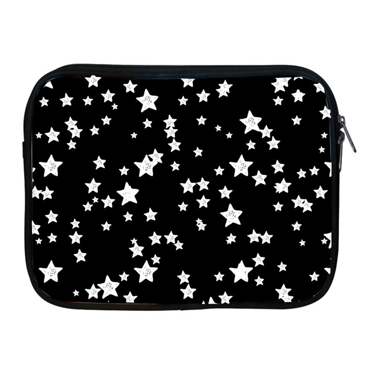 Black And White Starry Pattern Apple iPad 2/3/4 Zipper Cases