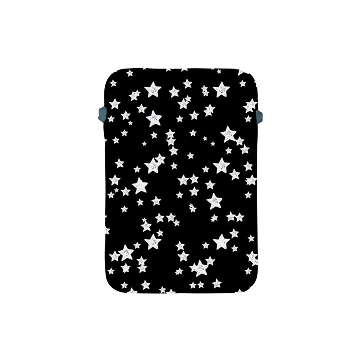 Black And White Starry Pattern Apple iPad Mini Protective Soft Cases