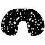 Black And White Starry Pattern Travel Neck Pillows Front