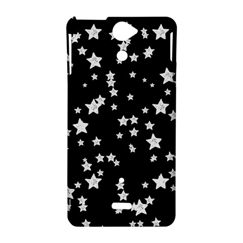 Black And White Starry Pattern Sony Xperia V