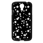 Black And White Starry Pattern Samsung Galaxy S4 I9500/ I9505 Case (Black) Front