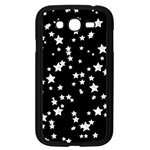 Black And White Starry Pattern Samsung Galaxy Grand DUOS I9082 Case (Black) Front