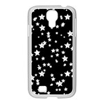 Black And White Starry Pattern Samsung GALAXY S4 I9500/ I9505 Case (White) Front