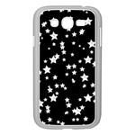 Black And White Starry Pattern Samsung Galaxy Grand DUOS I9082 Case (White) Front