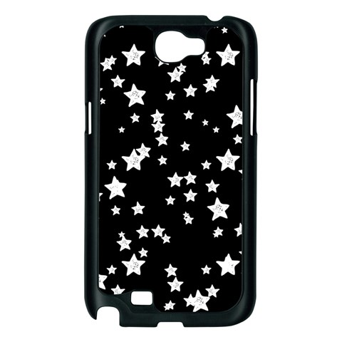 Black And White Starry Pattern Samsung Galaxy Note 2 Case (Black)