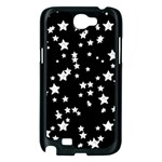 Black And White Starry Pattern Samsung Galaxy Note 2 Case (Black) Front
