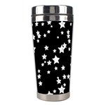 Black And White Starry Pattern Stainless Steel Travel Tumblers Left
