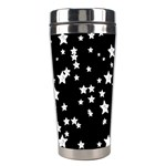 Black And White Starry Pattern Stainless Steel Travel Tumblers Center