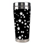Black And White Starry Pattern Stainless Steel Travel Tumblers Right