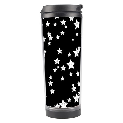 Black And White Starry Pattern Travel Tumbler