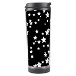 Black And White Starry Pattern Travel Tumbler Left