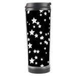 Black And White Starry Pattern Travel Tumbler Right