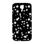 Black And White Starry Pattern Samsung Galaxy S4 I9500/I9505  Hardshell Back Case Front