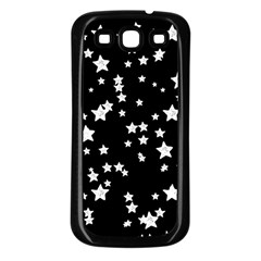 Black And White Starry Pattern Samsung Galaxy S3 Back Case (black)