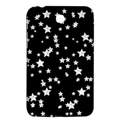 Black And White Starry Pattern Samsung Galaxy Tab 3 (7 ) P3200 Hardshell Case