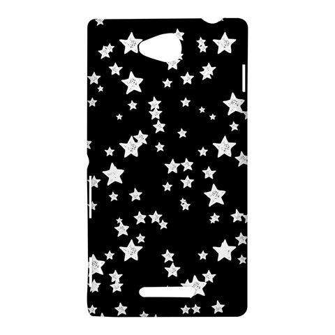 Black And White Starry Pattern Sony Xperia C (S39H)