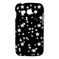 Black And White Starry Pattern Samsung Galaxy Ace 3 S7272 Hardshell Case