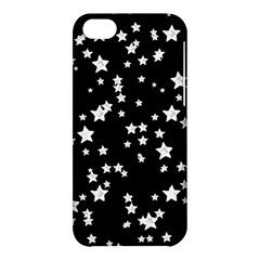 Black And White Starry Pattern Apple Iphone 5c Hardshell Case