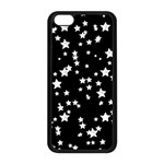 Black And White Starry Pattern Apple iPhone 5C Seamless Case (Black) Front