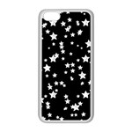 Black And White Starry Pattern Apple iPhone 5C Seamless Case (White) Front