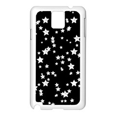 Black And White Starry Pattern Samsung Galaxy Note 3 N9005 Case (White)