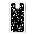 Black And White Starry Pattern Samsung Galaxy Note 3 N9005 Case (White) Front