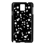 Black And White Starry Pattern Samsung Galaxy Note 3 N9005 Case (Black) Front