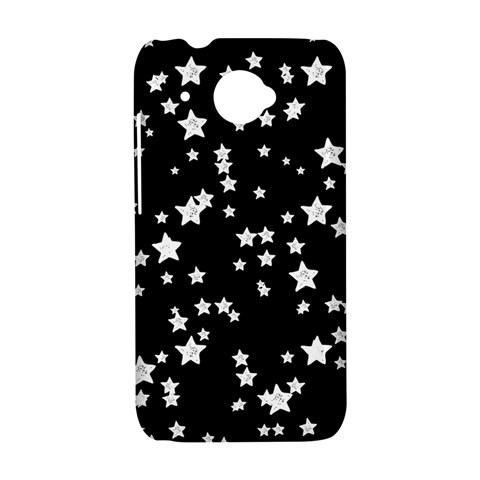 Black And White Starry Pattern HTC Desire 601 Hardshell Case
