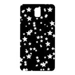 Black And White Starry Pattern Samsung Galaxy Note 3 N9005 Hardshell Back Case Front