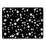 Black And White Starry Pattern Double Sided Fleece Blanket (Small)  50 x40 Blanket Back