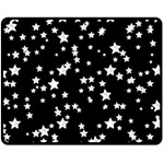 Black And White Starry Pattern Double Sided Fleece Blanket (Medium)  60 x50 Blanket Front