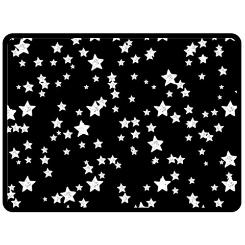 Black And White Starry Pattern Double Sided Fleece Blanket (Large)