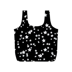 Black And White Starry Pattern Full Print Recycle Bags (S)
