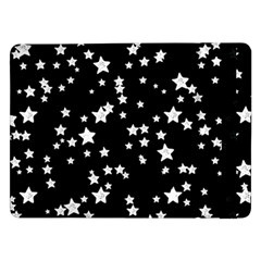 Black And White Starry Pattern Samsung Galaxy Tab Pro 12.2  Flip Case