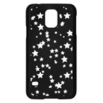 Black And White Starry Pattern Samsung Galaxy S5 Case (Black) Front