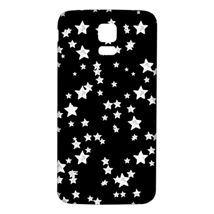 Black And White Starry Pattern Samsung Galaxy S5 Back Case (White)