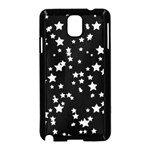 Black And White Starry Pattern Samsung Galaxy Note 3 Neo Hardshell Case (Black) Front