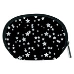 Black And White Starry Pattern Accessory Pouches (Medium)  Back