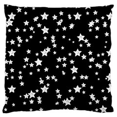 Black And White Starry Pattern Large Flano Cushion Case (two Sides)