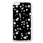 Black And White Starry Pattern Apple iPhone 6 Plus/6S Plus Enamel White Case Front
