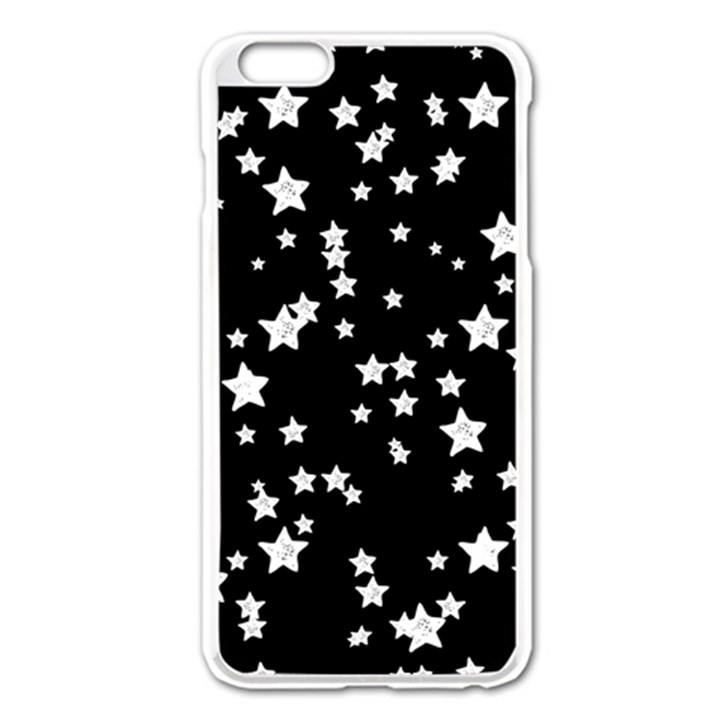 Black And White Starry Pattern Apple iPhone 6 Plus/6S Plus Enamel White Case