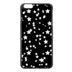 Black And White Starry Pattern Apple iPhone 6 Plus/6S Plus Black Enamel Case