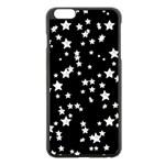 Black And White Starry Pattern Apple iPhone 6 Plus/6S Plus Black Enamel Case Front