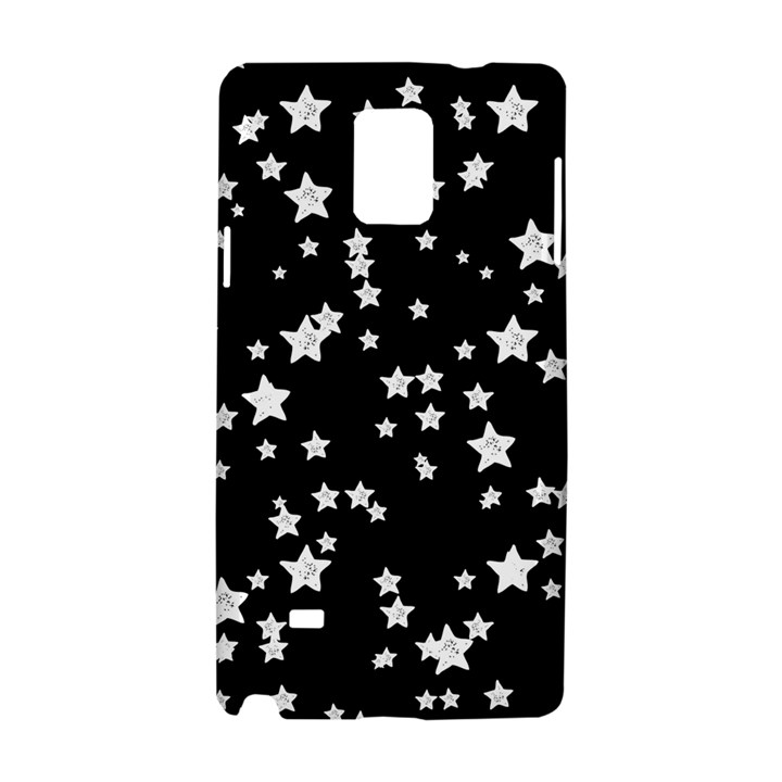 Black And White Starry Pattern Samsung Galaxy Note 4 Hardshell Case