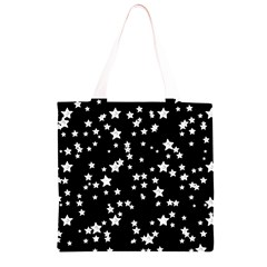 Black And White Starry Pattern Grocery Light Tote Bag